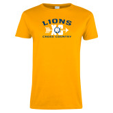 Ladies Gold T Shirt-Cross Country