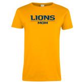 Ladies Gold T Shirt-Lions Mom