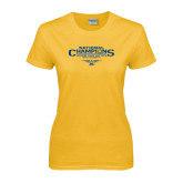 Ladies Gold T Shirt-Outdoor Track and Field Champions