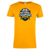 Ladies Gold T Shirt-2017 National Champions
