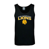 Black Tank Top-Arched A&M Commerce Lions