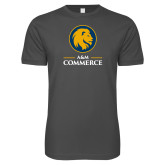 Next Level SoftStyle Charcoal T Shirt-Mascot AM Commerce