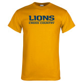 Gold T Shirt-Lions Cross Country