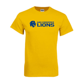 Gold T Shirt-Flat A&M Commerce Lions