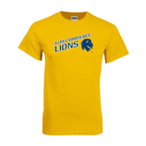 Gold T Shirt-Angled A&M Commerce Lions