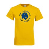 Gold T Shirt-A&M Commerce Round Design