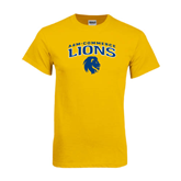 Gold T Shirt-Arched A&M Commerce Lions