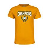 Youth Gold T Shirt-2017 National Football Champions
