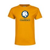 Youth Gold T Shirt-Mascot AM Commerce