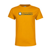 Youth Gold T Shirt-Texas A&M University Commerce