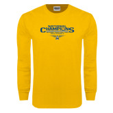 Gold Long Sleeve T Shirt-Outdoor Track and Field Champions