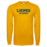 Gold Long Sleeve T Shirt-Lions Alumni