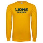 Gold Long Sleeve T Shirt-Lions Grandpa