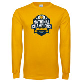 Gold Long Sleeve T Shirt-2017 National Champions