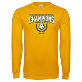 Gold Long Sleeve T Shirt-2017 National Football Champions
