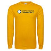 Gold Long Sleeve T Shirt-Texas A&M University Commerce