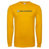 Gold Long Sleeve T Shirt-AM Commerce