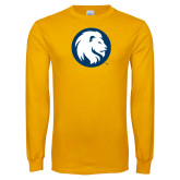 Gold Long Sleeve T Shirt-Mascot Logo