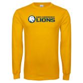 Gold Long Sleeve T Shirt-AM Commerce Lions
