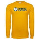 Gold Long Sleeve T Shirt-TAMUC Lions