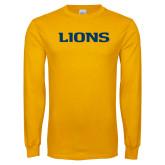 Gold Long Sleeve T Shirt-Lions