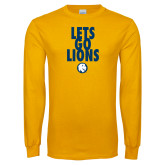 Gold Long Sleeve T Shirt-Lets Go Lions