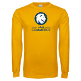 Gold Long Sleeve T Shirt-Primary Distressed