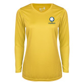 Ladies Syntrel Performance Gold Longsleeve Shirt-Mascot AM Commerce