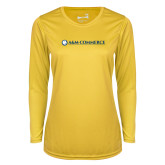 Ladies Syntrel Performance Gold Longsleeve Shirt-AM Commerce