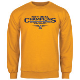 Gold Fleece Crew-Outdoor Track and Field Champions