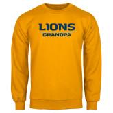 Gold Fleece Crew-Lions Grandpa