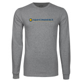 Grey Long Sleeve T Shirt-AM Commerce