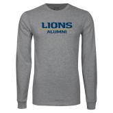 Grey Long Sleeve T Shirt-Lions Alumni