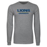 Grey Long Sleeve T Shirt-Lions Grandpa