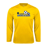 Syntrel Performance Gold Longsleeve Shirt-Soccer Swoosh