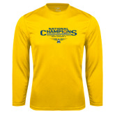 Syntrel Performance Gold Longsleeve Shirt-Outdoor Track and Field Champions