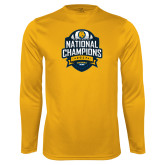 Syntrel Performance Gold Longsleeve Shirt-2017 National Champions