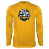 Performance Gold Longsleeve Shirt-2017 National Champions