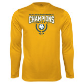Syntrel Performance Gold Longsleeve Shirt-2017 National Football Champions