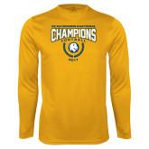 Performance Gold Longsleeve Shirt-2017 National Football Champions