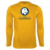 Performance Gold Longsleeve Shirt-Mascot AM Commerce