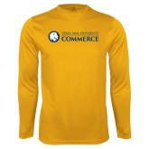 Performance Gold Longsleeve Shirt-Texas A&M University Commerce
