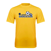 Syntrel Performance Gold Tee-Soccer Swoosh