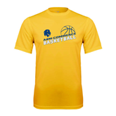 Syntrel Performance Gold Tee-Angled Basketball Design