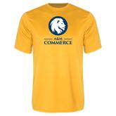 Performance Gold Tee-Mascot AM Commerce