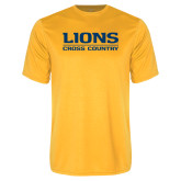 Performance Gold Tee-Lions Cross Country