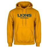 Gold Fleece Hoodie-Lions Football