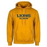 Gold Fleece Hoodie-Lions Alumni