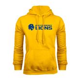 Gold Fleece Hoodie-Flat A&M Commerce Lions