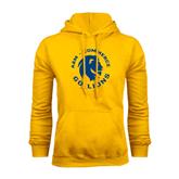 Gold Fleece Hoodie-A&M Commerce Round Design